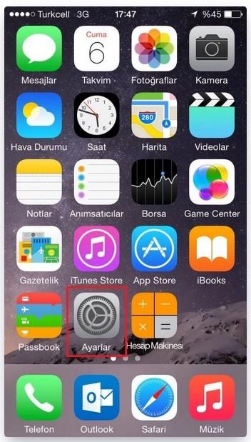 iPhone iOS E Posta Ayarlar
