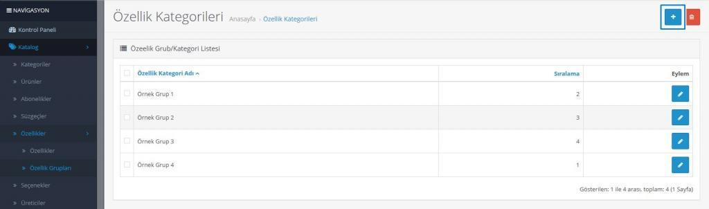 Opencart Ürünlere Özellik Ekleme Kategorileri