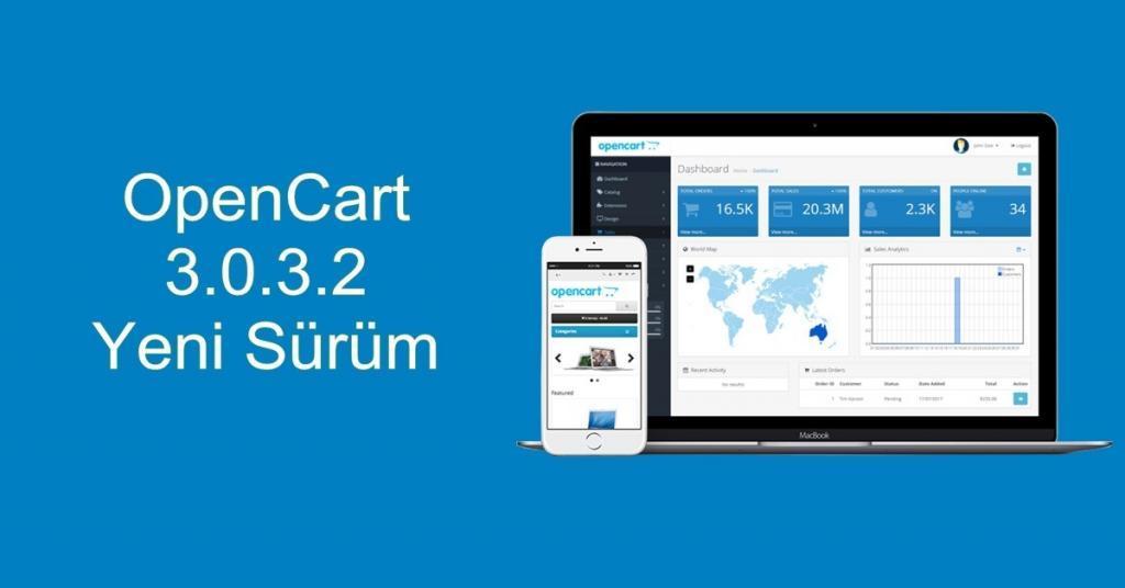 OpenCart 3.0.3.2 Yeni Sürüm