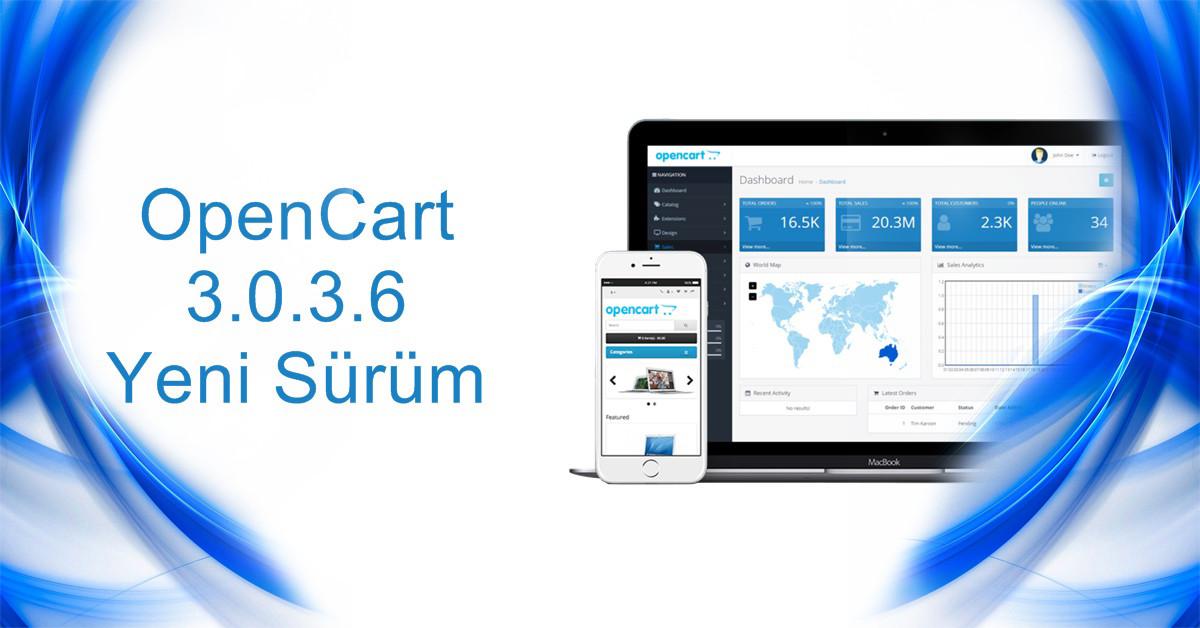 Opencart 3.0.3.6 Yeni Sürüm