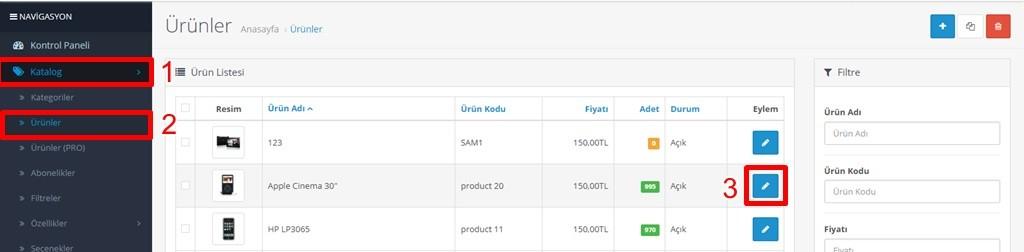 Opencart ürün sayfalarına benzer ürünler ekleme