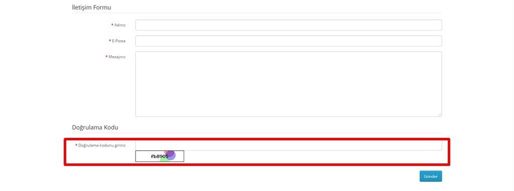 Opencart İstenmeyen E-postaları Ve Üyelikleri Engelleme