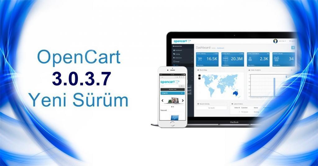 OpenCart 3.0.3.7 Yeni Sürüm